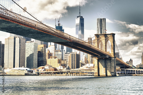 Manhattan with Brooklyn Bridge.