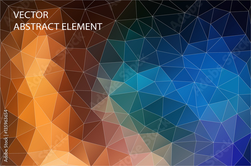 Fotobehang Geometrische Achtergrond Abstract 2D geometric colorful background. Design for web.