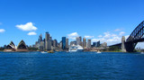 View of Downtown Sydney with Harbour Bridge and Opera House