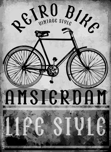 hand drawn bicycle in Amsterdam European street sport