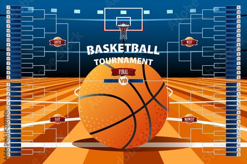 Basketball Tournament Bracket Template