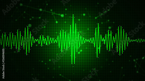 In de dag Abstract wave Audio spectrum waveform abstract graphic display