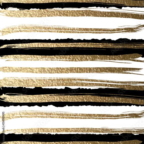grunge-futurystyczny-tlo-rysujacy-musnieciem-zlote-farby-i-czarny-atrament-tworza-abstrakcyjny-wzor-w-paski