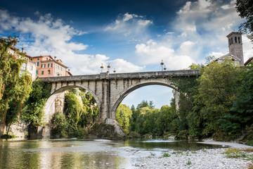 Devil's bridge in Cividale city