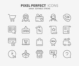 shopping thin line icons 1 - 136012805