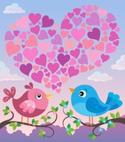 Valentine birds with heart shape theme 2