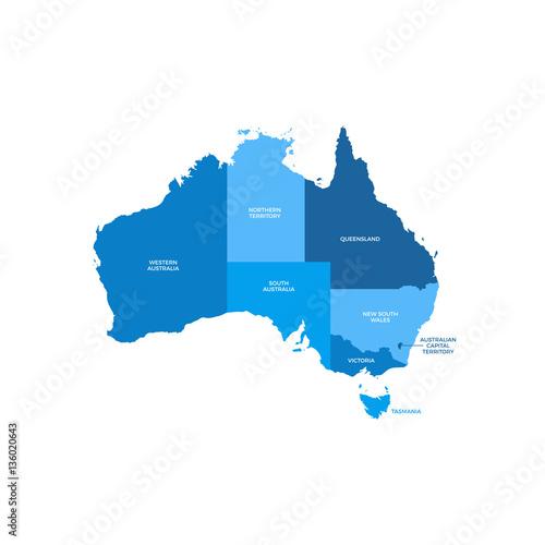 Fototapeta Australia Regions Map