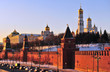 Sunset view of Moscow Kremlin