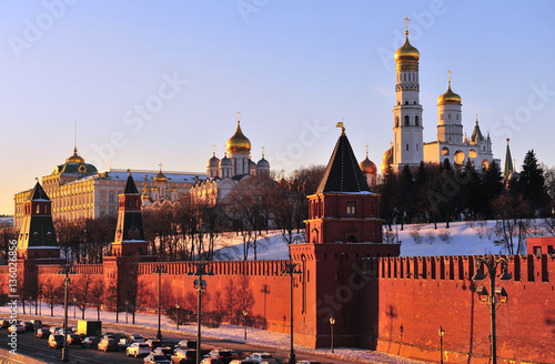 Poster Sunset view of Moscow Kremlin