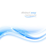 Abstract wavy vector background with glitter.