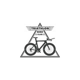 Vector illustration of the logo Triathlon bike club.