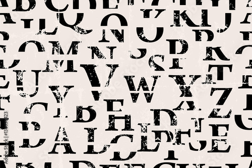 seamless background, letters, alphabet, vector illustration