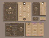 Design A4 menu,  retro folding brochures, flyers  for restaurant
