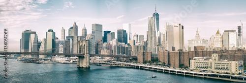 NEW YORK CITY - OCTOBER 22, 2015: Lower Manhattan skyline from M
