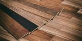 Laminate floor on wooden background. 3d illustration - 136062237