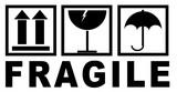 autocollant fragile pour l'emballage - 136067683