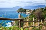 Sestri Levante silence bay or Baia del Silenzio. Liguria, Italy