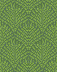 Palm Foliage Seamless Pattern in Geenery and Kale Colors.