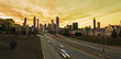panoramic view of downtown Atlanta and highway.