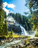 Waterfall at Zillertal Alps in Austria