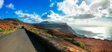 Impressive roads with stunning views in Lanzarote island, Canary islands