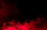 red smoke on black background - 136092888