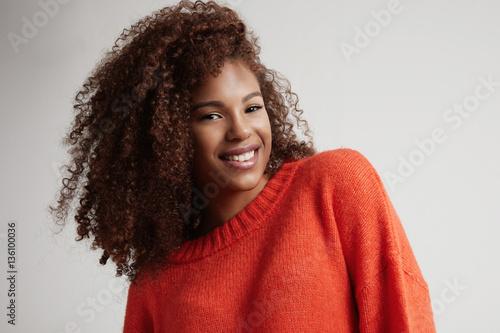 happy smiling black woman's portrait Slika na platnu
