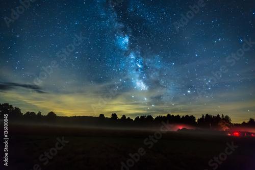 Milky Way on a Misty Night