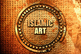 islamic art, 3D rendering, text on metal