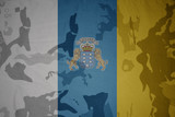 flag of on the khaki texture . military concept