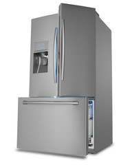 Three Door French Style Stainless Steel Refrigerator