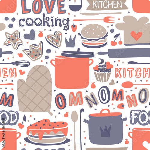 kulinarny-bezszwowy-deseniowy-retro-styl-z-kuchnia-i-wypiekowymi-rzeczami-wektorowymi