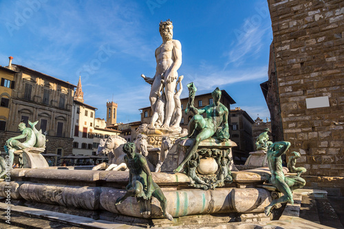 Papiers peints Florence The Fountain of Neptune in Florence