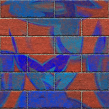 Continuous  pattern  of graffiti brick wall