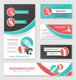 Medical clinic banner, card, flyer template design