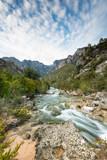 Fast flowing creek in Els Ports Natural Park, Spain