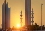 Sunset view on Abu Dhabi dountown
