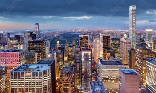New York City at night, USA