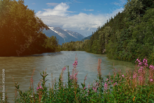 River in mountains landscape © PixieMe