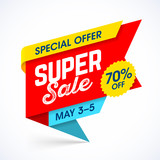 Super sale weekend special offer banner