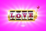 Love word on gold slot machine