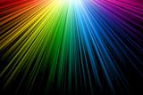 Bright multicolor rays