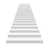 Front view of white staircase  - 136157895