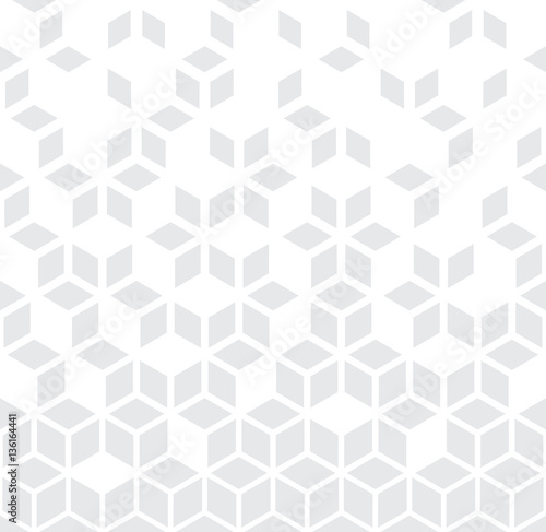 Abstract geometric black and white graphic minimal halftone pattern - 136164441
