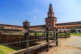 Castello Sforzesco (Sforza Castle) in Milan, Lombardy, Italy