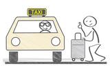 Taxi, Fahrer und Fahrgast - 136171429