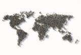 crowd  as a world map