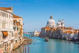 Venice city canal skyline in Venice Italy