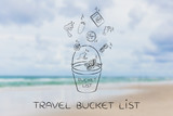 holiday planning, bucket list  travel icons