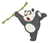 Illustration of a Cute Panda. Cartoon Character